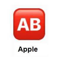 AB Button (Blood Type) on Apple iOS