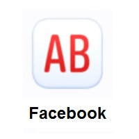 AB Button (Blood Type) on Facebook