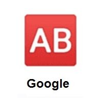 AB Button (Blood Type) on Google Android