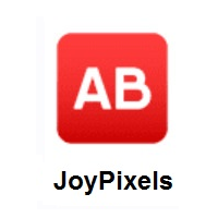 AB Button (Blood Type) on JoyPixels
