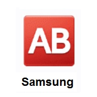 AB Button (Blood Type) on Samsung