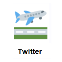 Airplane Departure on Twitter Twemoji