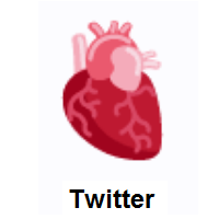 Anatomical Heart on Twitter Twemoji