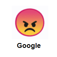 Nervous: Angry Face on Google Android