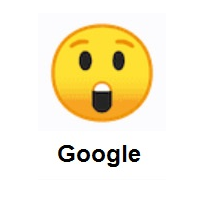 Astonished Face on Google Android