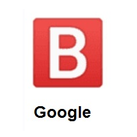 B Button (Blood Type) on Google Android