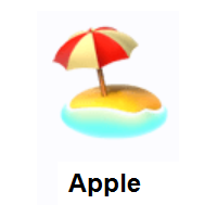Beach With Umbrella on Apple iOS