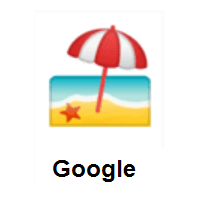 Beach With Umbrella on Google Android