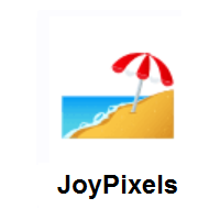 Beach With Umbrella on JoyPixels