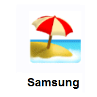 Beach With Umbrella on Samsung