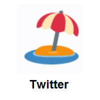 Beach With Umbrella on Twitter Twemoji