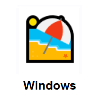 Beach With Umbrella on Microsoft Windows