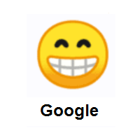 Beaming Face with Smiling Eyes on Google Android