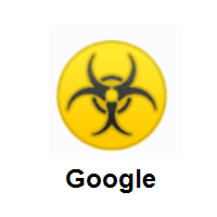 Biohazard Sign on Google Android