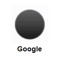 Black Circle on Google Android