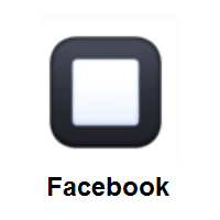 Black Square Button on Facebook