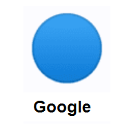 Blue Circle on Google Android