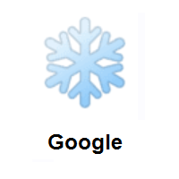 Blue Snowflake on Google Android