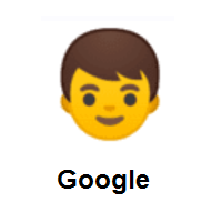 Boy on Google Android