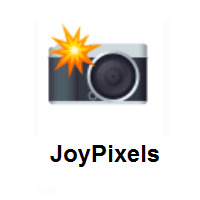Camera With Flash on JoyPixels