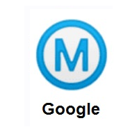 Circled M on Google Android