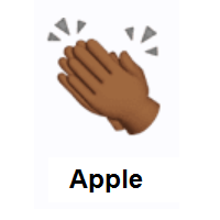 Clapping Hands: Medium-Dark Skin Tone on Apple iOS