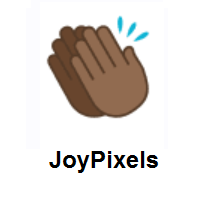 Clapping Hands: Medium-Dark Skin Tone on JoyPixels