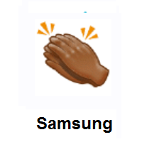 Clapping Hands: Medium-Dark Skin Tone on Samsung