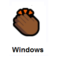 Clapping Hands: Medium-Dark Skin Tone on Microsoft Windows