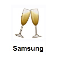 Clinking Glasses on Samsung