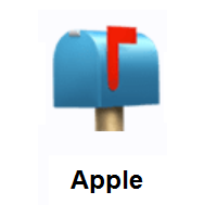 Closed Mailbox With Raised Flag on Apple iOS