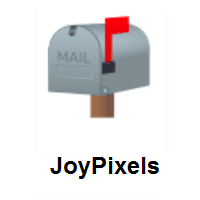 Closed Mailbox With Raised Flag on JoyPixels