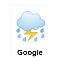 Thundershower: Cloud With Lightning And Rain on Google Android