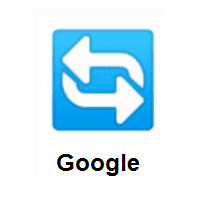 Anticlockwise Arrows Button: Counterclockwise Arrows Button on Google Android
