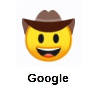 Cowboy Hat Face on Google Android