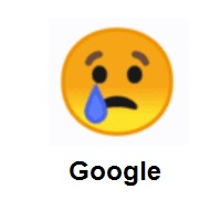 Crying Face on Google Android