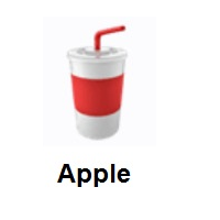 Cup With Straw on Apple iOS
