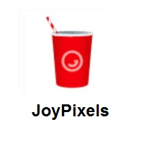Cup With Straw on JoyPixels