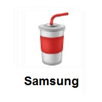 Cup With Straw on Samsung