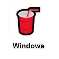 Cup With Straw on Microsoft Windows