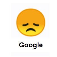 Disappointed Face on Google Android