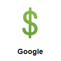Dollar Sign on Google Android