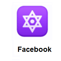 Dotted Six-Pointed Star on Facebook
