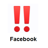 Double Exclamation Mark on Facebook