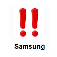 Double Exclamation Mark on Samsung
