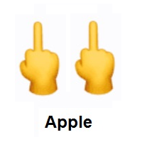 Double Middle Finger on Apple iOS