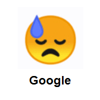 Downcast Face With Sweat on Google Android