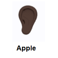 Ear: Dark Skin Tone on Apple iOS