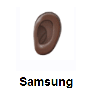 Ear: Dark Skin Tone on Samsung