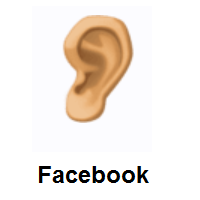 Ear: Medium Skin Tone on Facebook